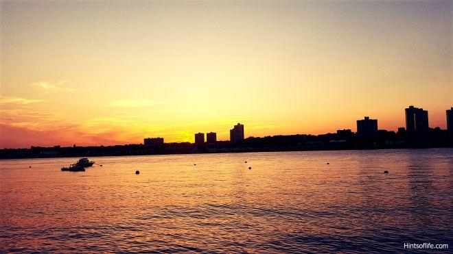 Fall sunset @Hudsonriver